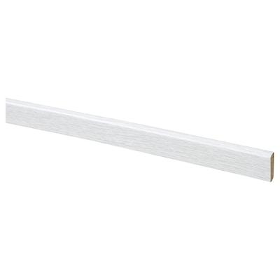 PRÄRIE plakplint eikenpatroon/wit 200 cm 2.4 cm 0.5 cm