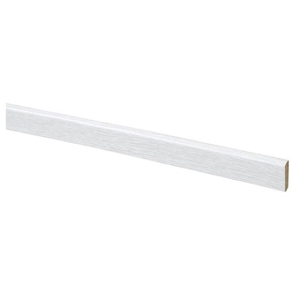 PRÄRIE Plakplint, eikenpatroon/wit, 200 cm