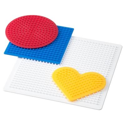 PYSSLA kraaltjessteekplaat set van 4 gemengde kleuren