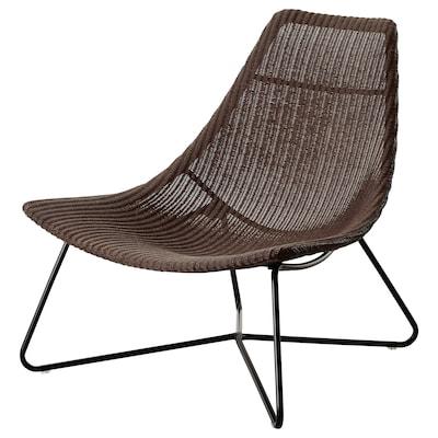 RÅDVIKEN fauteuil donkerbruin/zwart 79 cm 73 cm 82 cm 79 cm 45 cm 35 cm