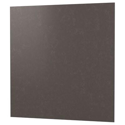 RÅHULT Maatwerk wandpaneel, mat donkergrijs/marmerpatroon kwarts, 1 m²x1.2 cm