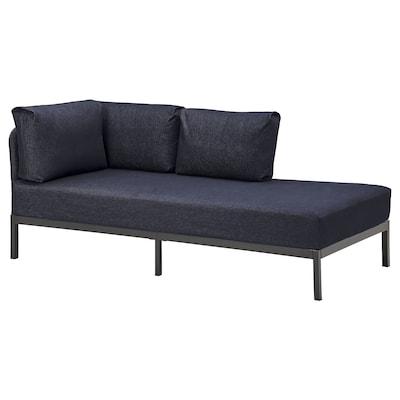RÅVAROR Bedbank met 2 matrassen, donkerblauw/Moshult stevig, 90x200 cm
