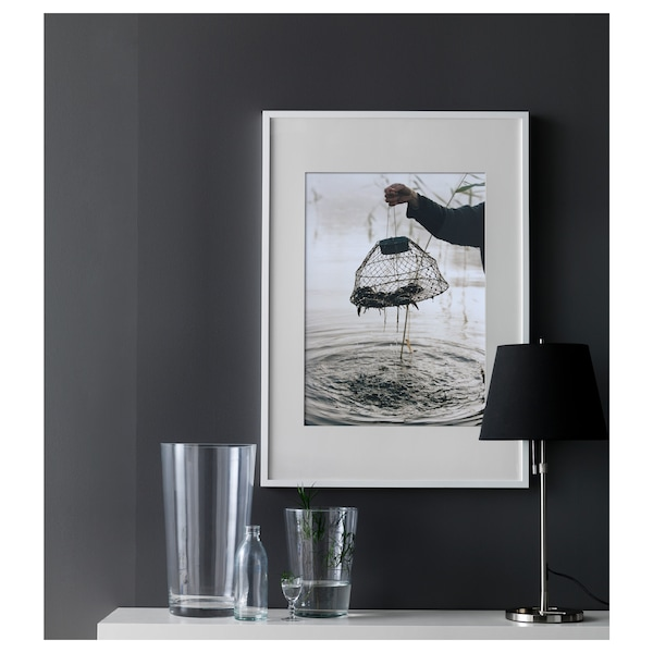 RIBBA Fotolijst, wit, 50x70 cm
