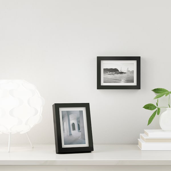 RIBBA Fotolijst, zwart, 10x15 cm