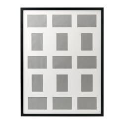RIBBA Lijst voor 15 foto's, zwart, 60x80 cm