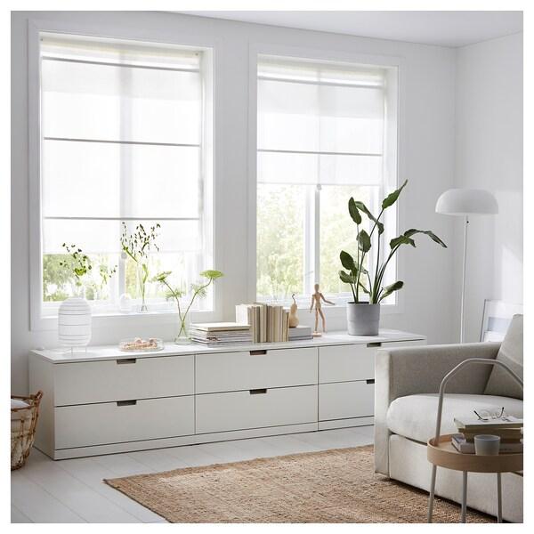 RINGBLOMMA vouwgordijn wit 160 cm 100 cm 1.60 m²