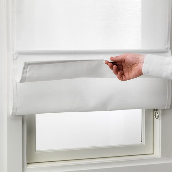 RINGBLOMMA Vouwgordijn, wit, 60x160 cm