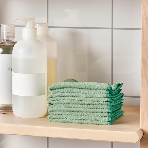 RINNIG Vaatdoek, groen, 25x25 cm