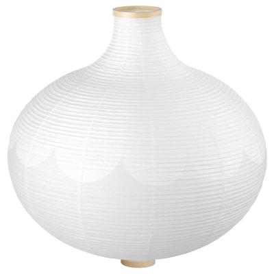RISBYN Hanglampenkap, uivormig/wit, 57 cm