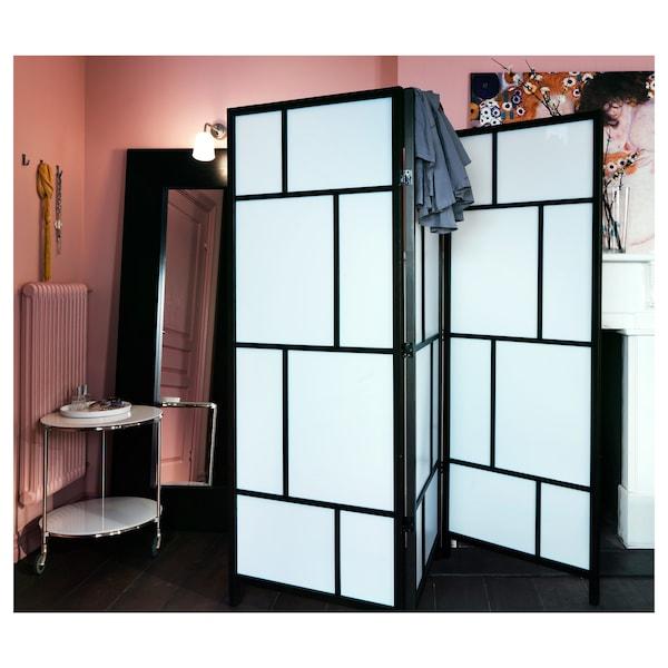 RISÖR scheidingswand wit/zwart 216 cm 185 cm