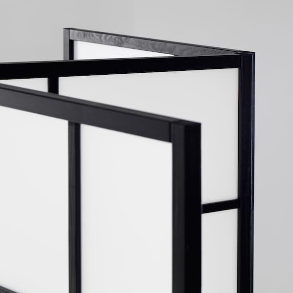RISÖR Scheidingswand, wit/zwart, 216x185 cm
