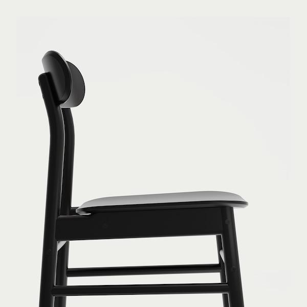 RÖNNINGE eetkamerstoel zwart 110 kg 46 cm 49 cm 79 cm 41 cm 41 cm 45 cm