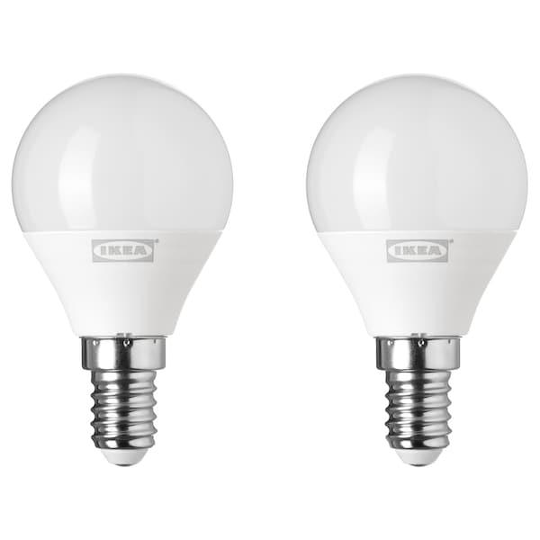 RYET led-lamp E14 200 lumen globe opaalwit 200 lumen 2 st.