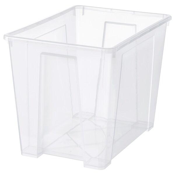 SAMLA Bak, transparant, 56x39x42 cm/65 l
