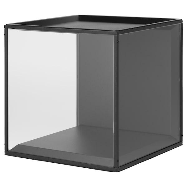 Kleine Glazen Vitrinekastjes.Vitrinekistje Met Deksel Sammanhang Zwart Glas