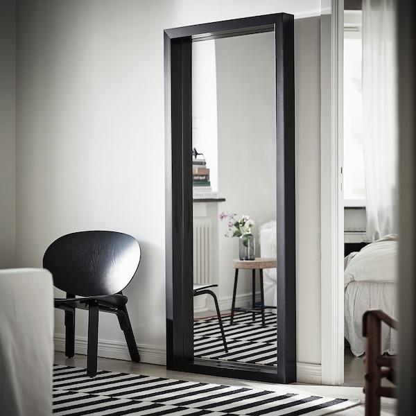 SANDTORG Spiegel, zwart, 75x180 cm