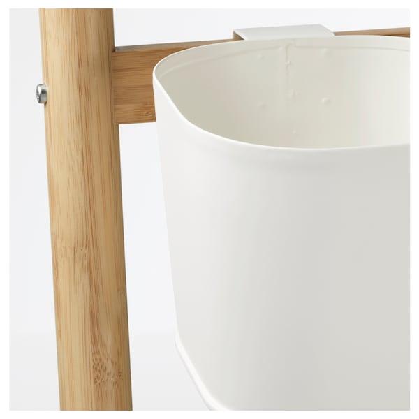 SATSUMAS Plantenstandaard met 5 potten, bamboe/wit, 125 cm