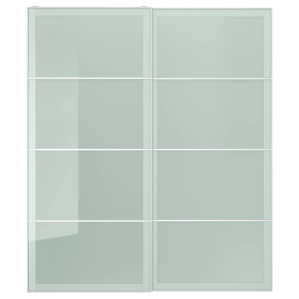 SEKKEN Schuifdeur, set van 2, frosted glas, 200x236 cm