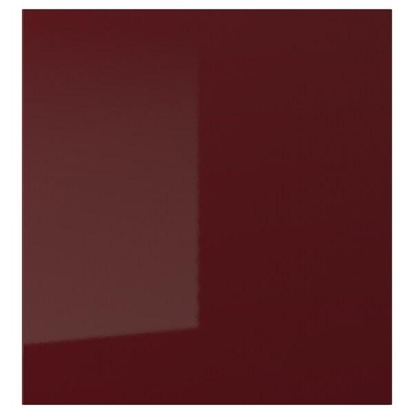 SELSVIKEN deur hoogglans donker roodbruin 60 cm 64 cm 2.0 cm