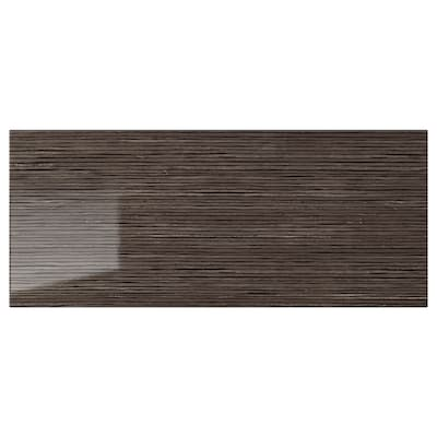 SELSVIKEN Ladefront, hoogglans met patroon bruin, 60x26 cm