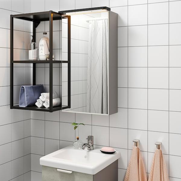SILVERGLANS Led-strip voor badkamer, dimbaar antraciet, 40 cm