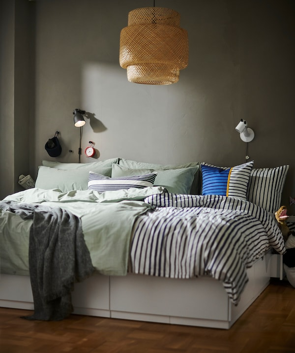SINNERLIG Hanglamp, bamboe/handgemaakt