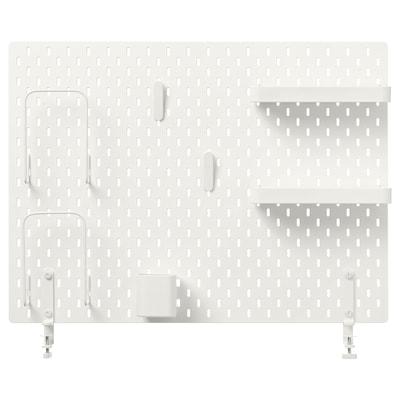 SKÅDIS Ophangbord, combinatie, wit, 76x56 cm