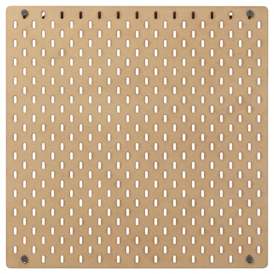 SKÅDIS Ophangbord, hout, 56x56 cm
