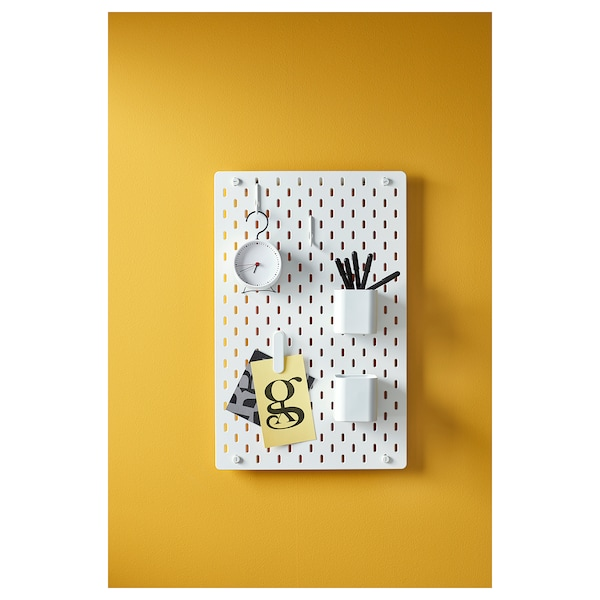 SKÅDIS Ophangbord, wit, 36x56 cm