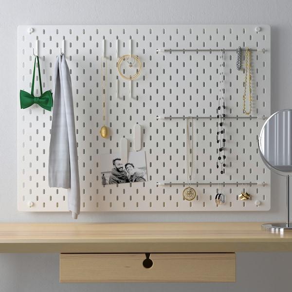 SKÅDIS ophangbord, combinatie wit 76 cm 12 cm 56 cm