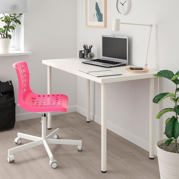 Kinder Bureaustoel Roze Ikea.Bureaustoel Skalberg Sporren Roze Wit