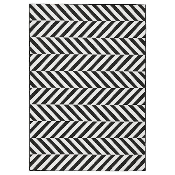 Betere SKARRILD Vloerkleed glad geweven, bin/buit, wit, zwart - IKEA OW-73