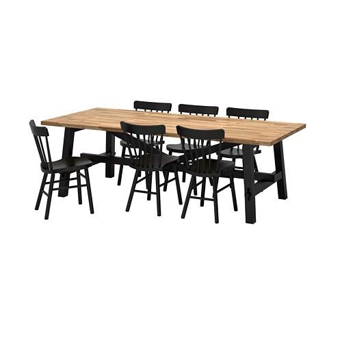 6 Eetkamerstoelen En Tafel.Skogsta Norraryd Tafel Met 6 Stoelen Ikea