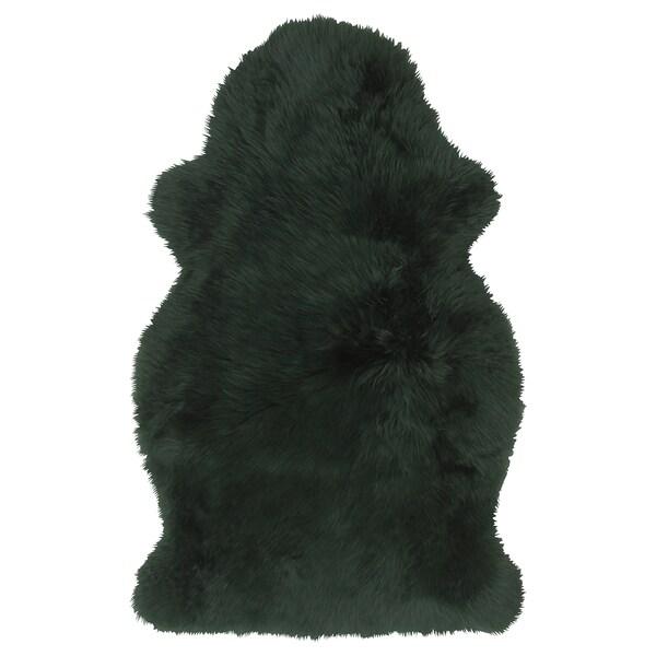 SKOLD Schapenvacht, geverfd, donkergroen, 90 cm