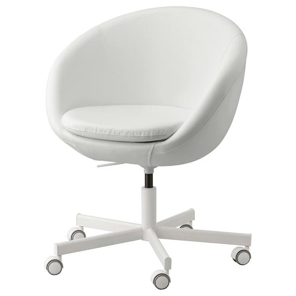 Bureaustoel Met Rubberen Wielen.Skruvsta Bureaustoel Ysane Wit Ikea