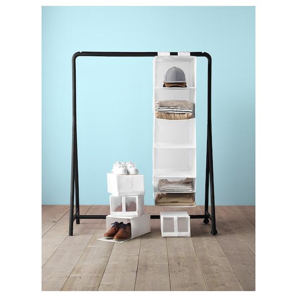SKUBB Opberger met 6 vakken, wit, 35x45x125 cm