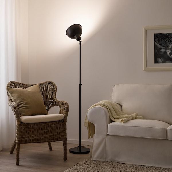 SKURUP staande lamp uplight zwart 13 W 118 cm 187 cm 28 cm 23 cm 2.0 m