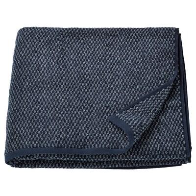 SKUTTRAN Badhanddoek, donkerblauw/gemêleerd, 70x140 cm