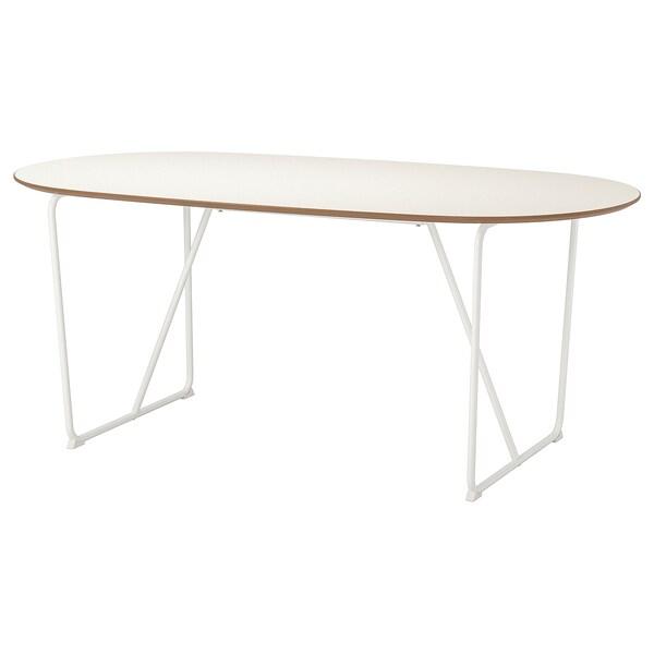 SLÄHULT tafel wit/Backaryd wit 185 cm 90 cm 73 cm