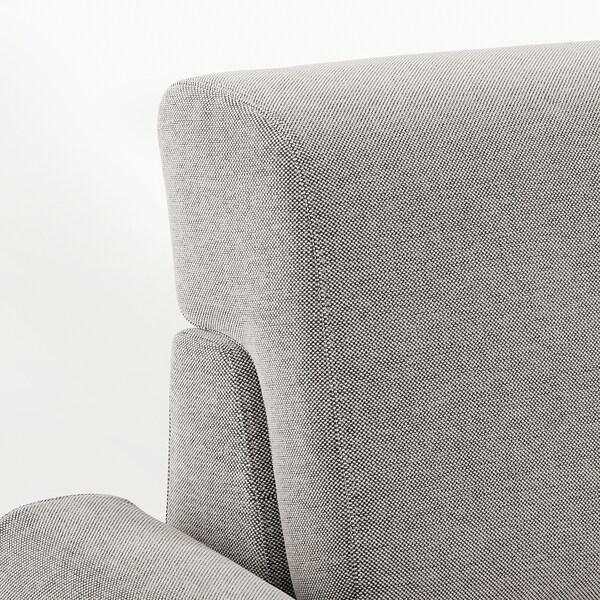 SLATORP 3-zitsbank, met chaise longue, rechts/Tallmyra wit/zwart