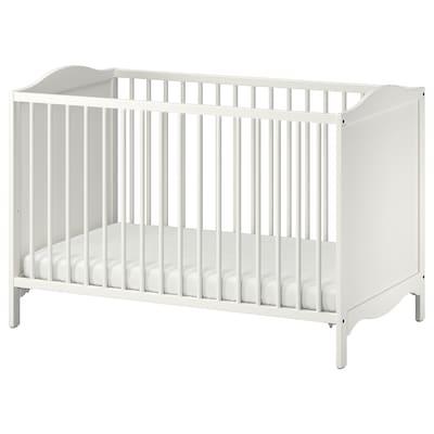 SMÅGÖRA Babybedje, wit, 60x120 cm