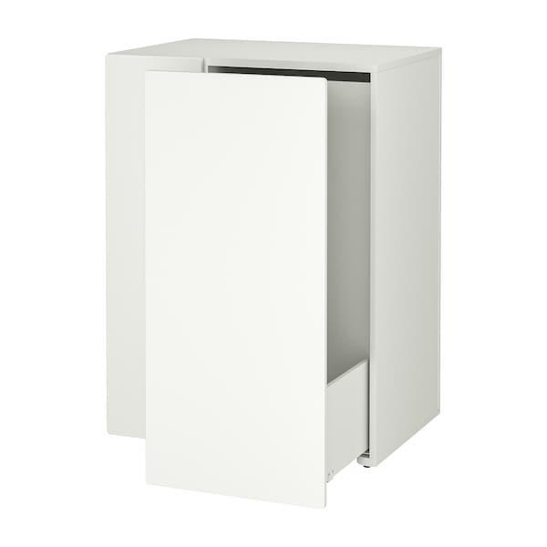 SMÅSTAD Opberger, uittrekbaar, wit, 80x57x108 cm