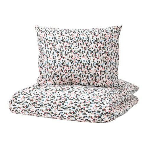 sm starr dekbedovertrek met 2 slopen 200x200 60x70 cm ikea. Black Bedroom Furniture Sets. Home Design Ideas