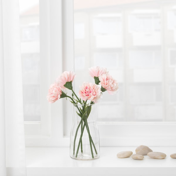 SMYCKA kunstbloem anjer/roze 30 cm