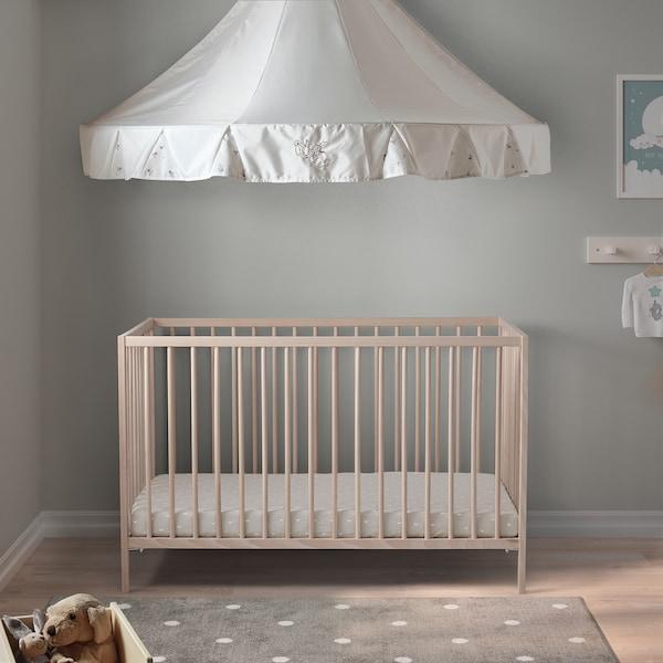 SNIGLAR Babybedje, beuken, 60x120 cm
