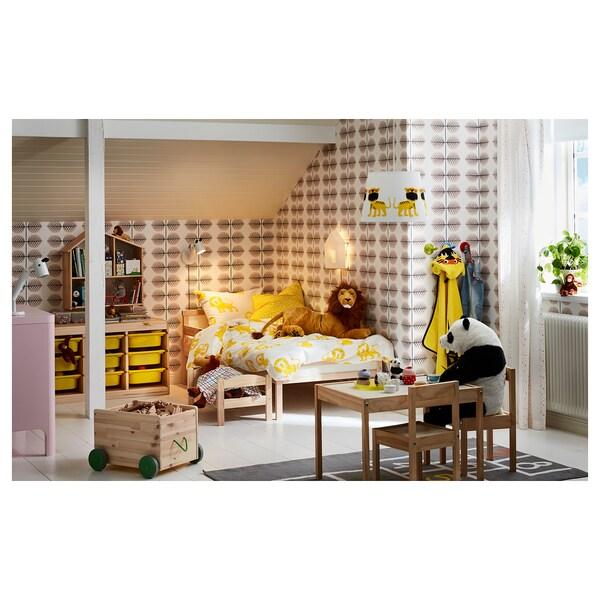 SNIGLAR Bedframe en zijsteun, beuken, 70x160 cm