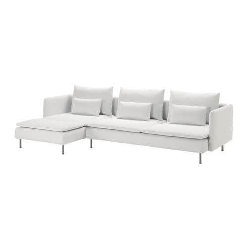 S u00d6DERHAMN 3 zitsbank en chaise longue   Finnsta wit   IKEA