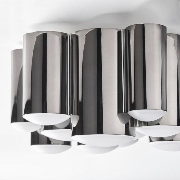 SÖDERSVIK Led-plafondlamp, zwart/verchroomd, 21 cm