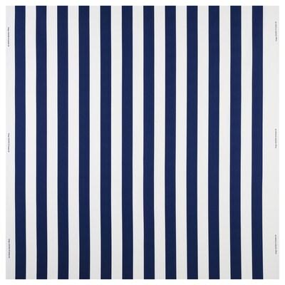 SOFIA Stof, brede streep/blauw/wit, 150 cm