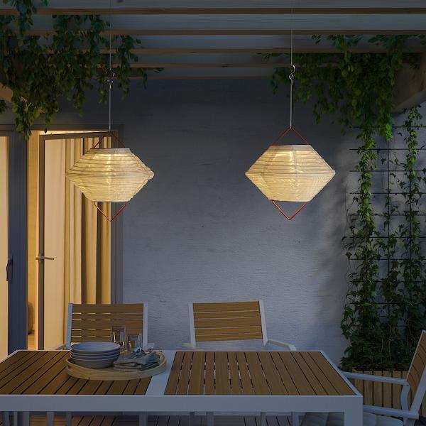 SOLVINDEN Led-plafondlamp op zonnecellen, buiten globe/diamantvorm, 30 cm